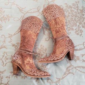 El Dantes Rhinestone & Stud Embellished Boots